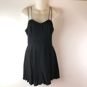 UO Mini Fit & Flare Double Spaghetti Strap Dress